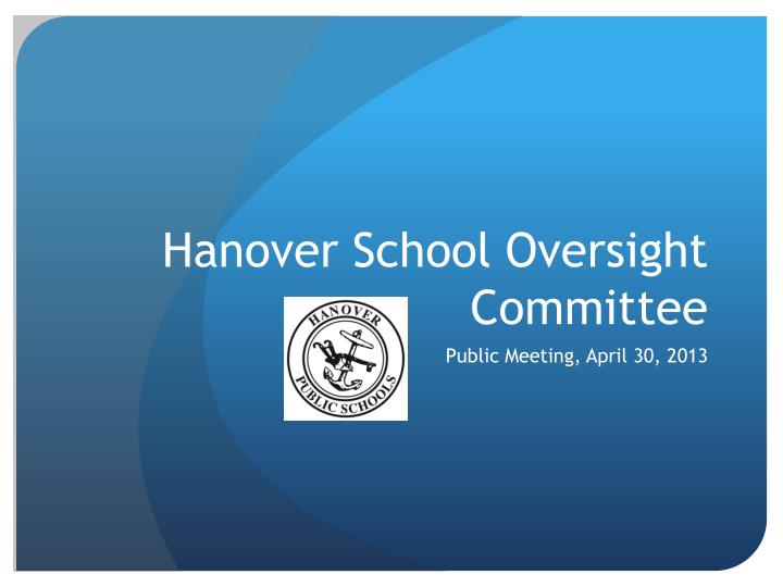 Hanover school oversight committee