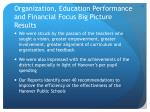 organization education performance and financial focus big picture results1