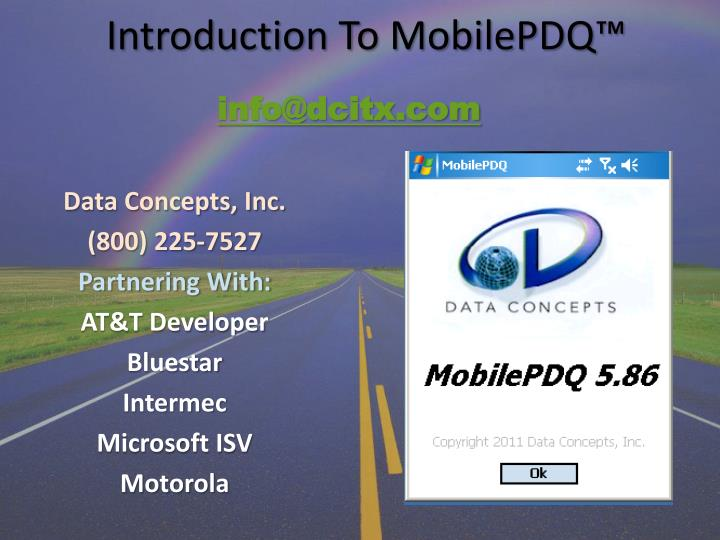 Introduction to mobilepdq