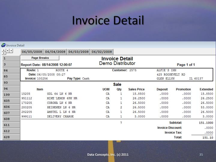 Invoice Detail