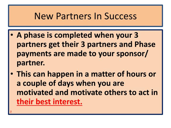 New Partners In Success