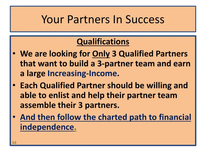Your Partners In Success
