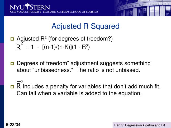 Adjusted R Squared