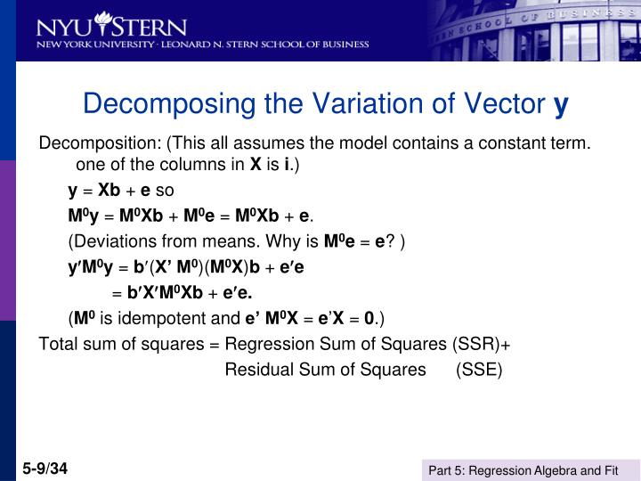 Decomposing the Variation of Vector