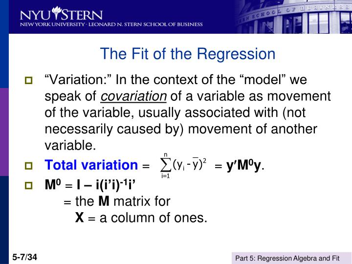 The Fit of the Regression