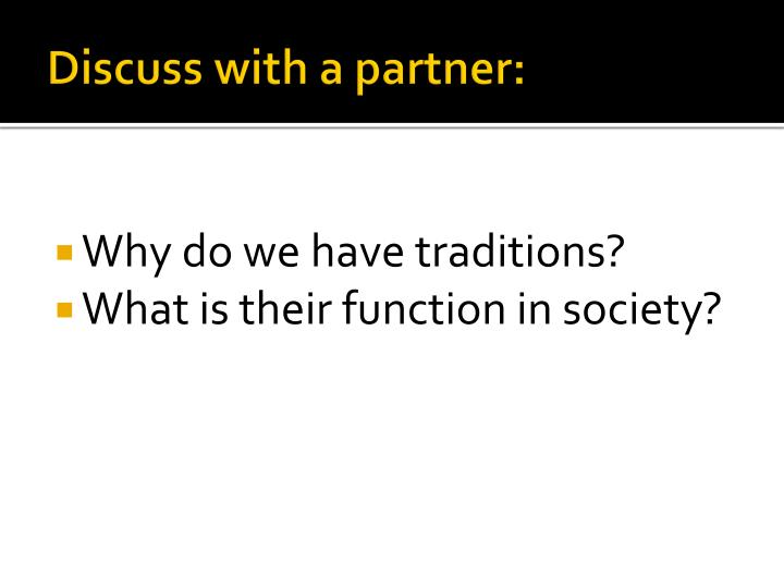Discuss with a partner: