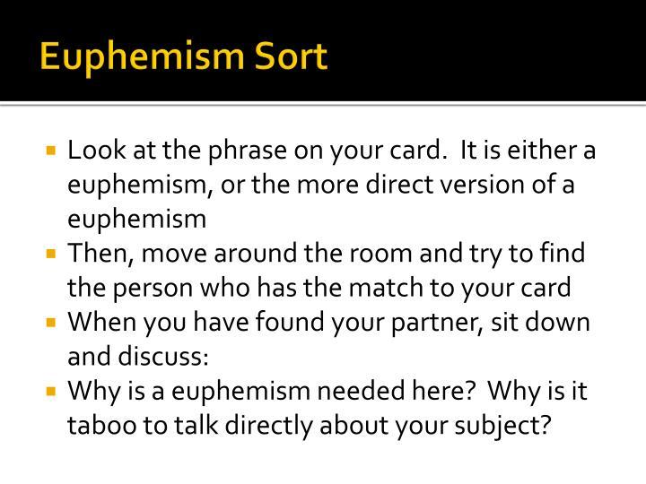 Euphemism Sort