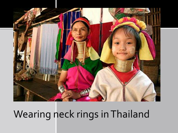 Wearing neck rings in Thailand