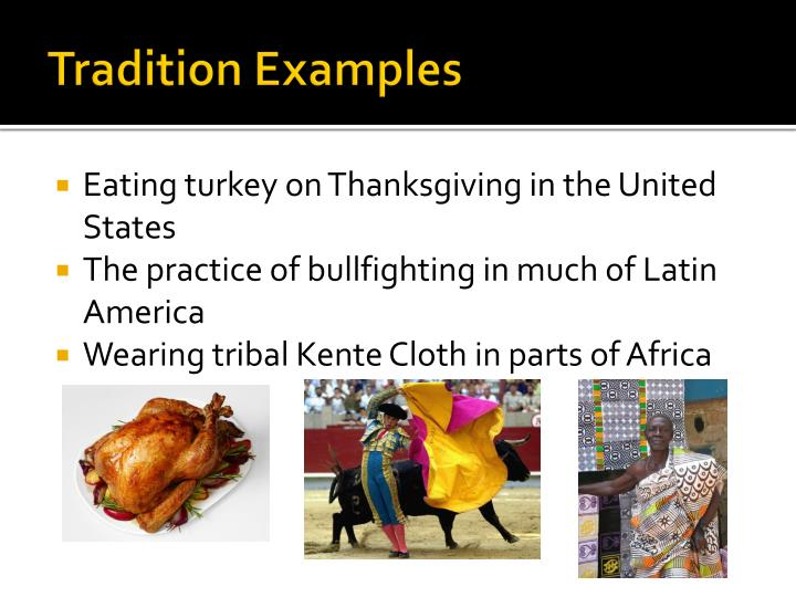 Tradition Examples