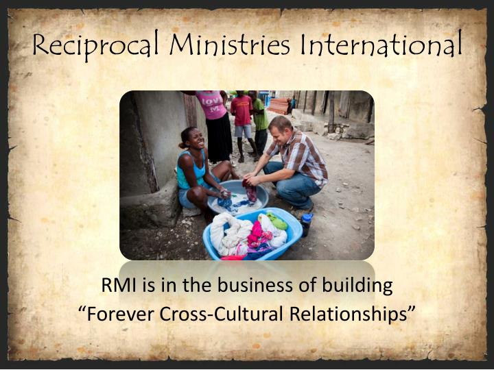 Reciprocal ministries international