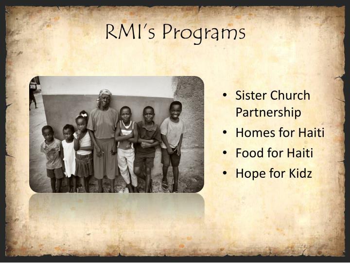 RMI's Programs