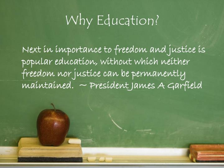 Why Education?