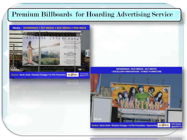 Premium Billboards  for Hoarding Advertising Service