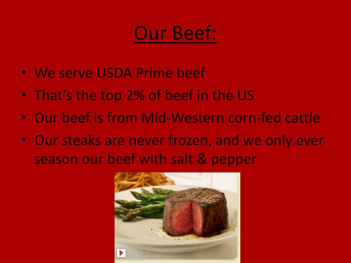Our Beef: