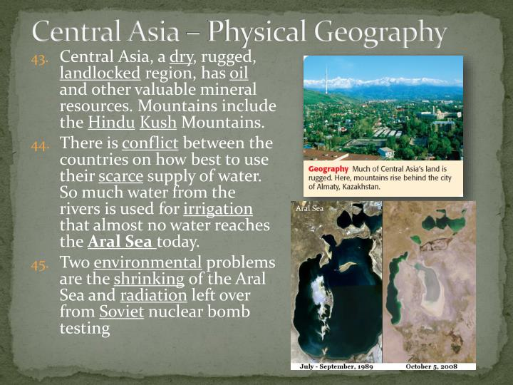 Central Asia – Physical Geography