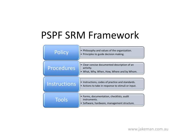 PSPF SRM Framework