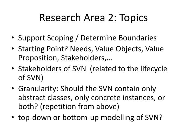 Research Area 2: Topics