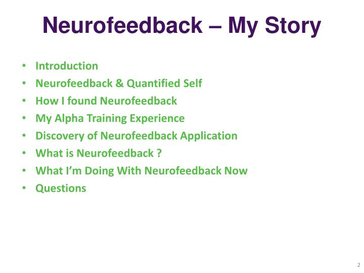 Neurofeedback – My Story