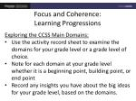 focus and coherence learning progressions2