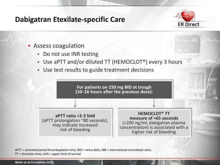Dabigatran Etexilate-specific Care
