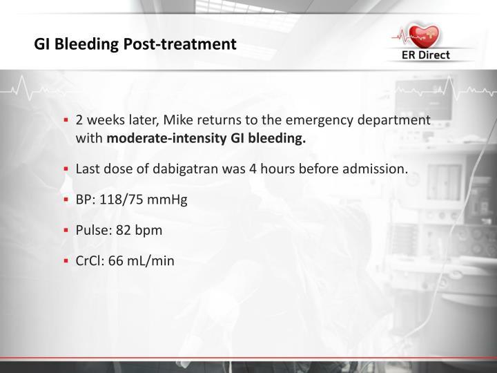 GI Bleeding Post-treatment