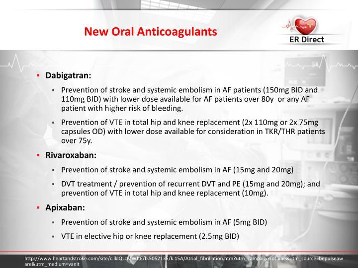 New Oral Anticoagulants