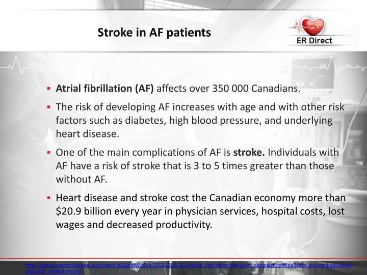 Stroke in AF patients