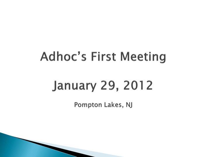Adhoc's