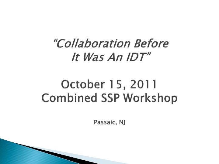 """Collaboration Before"