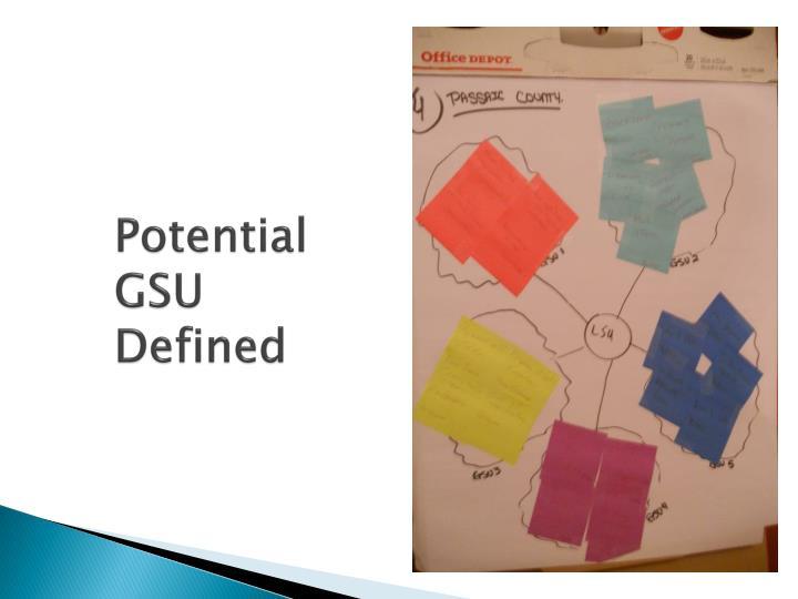 Potential GSU