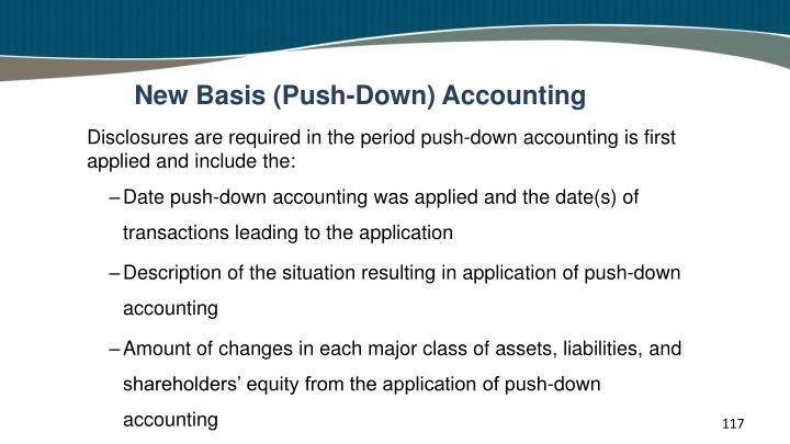 New Basis (Push-Down) Accounting