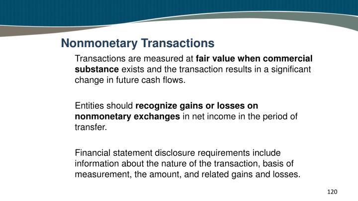 Nonmonetary Transactions