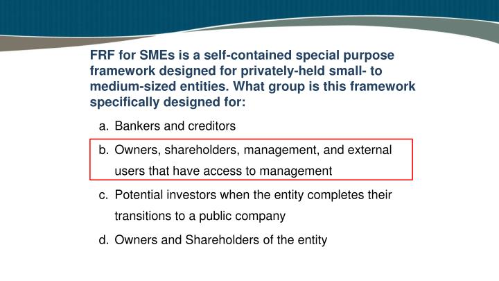 FRF for SMEs