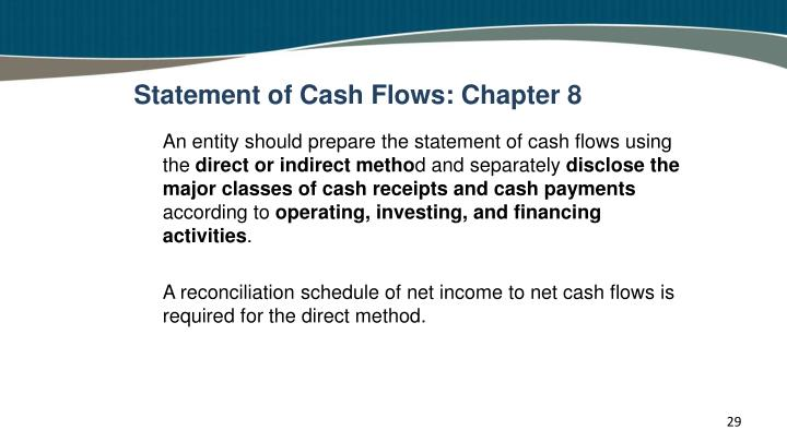 Statement of Cash Flows: Chapter 8