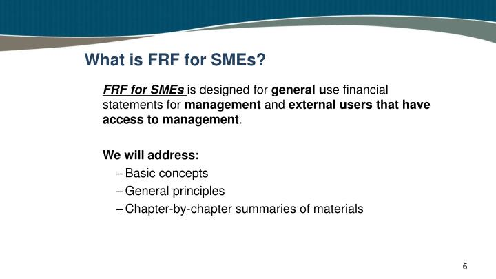 What is FRF for SMEs?