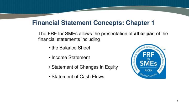 Financial Statement Concepts: Chapter 1