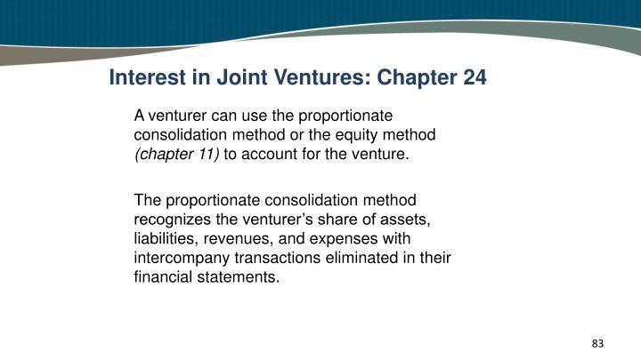 Interest in Joint Ventures: Chapter 24