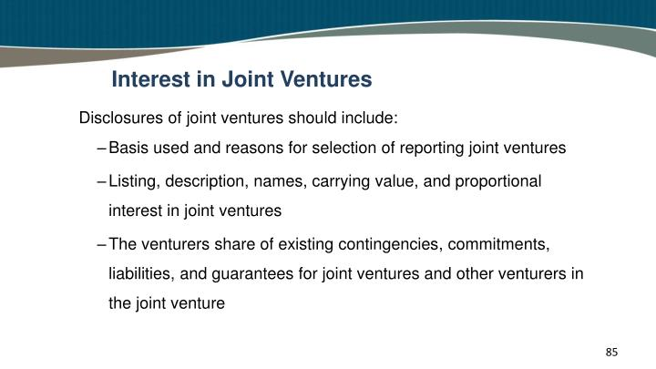 Interest in Joint Ventures