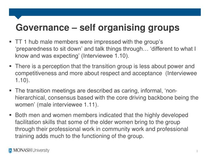 Governance – self