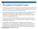the politics of transition towns