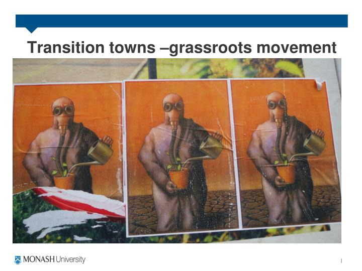 Transition towns –grassroots movement