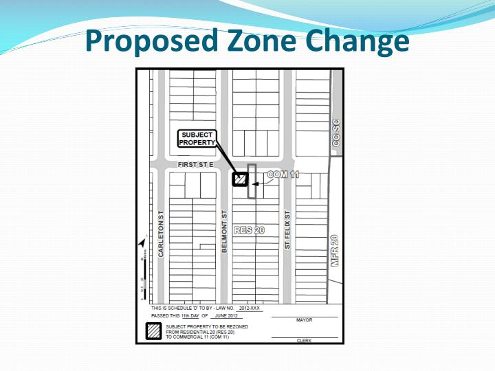 Proposed Zone Change