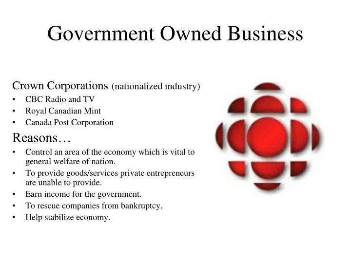 Government Owned Business