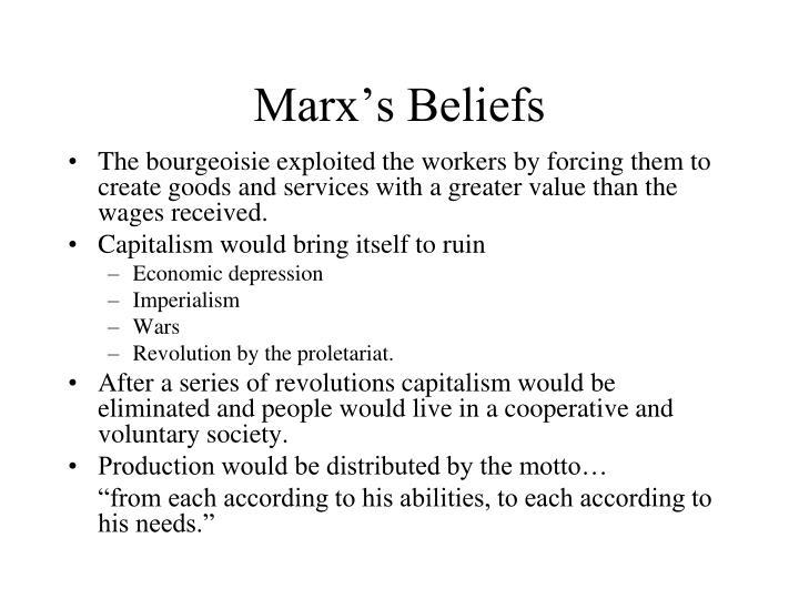 Marx's Beliefs