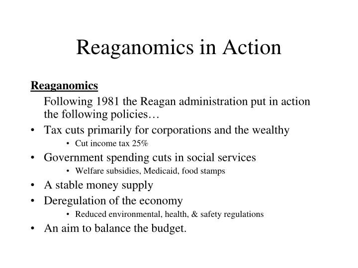 Reaganomics in Action