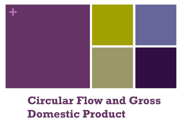 Circular flow and gross domestic product