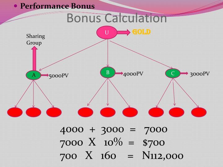 Bonus Calculation