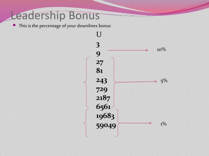 Leadership Bonus