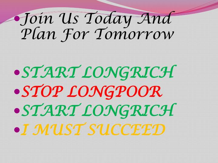Join Us Today And Plan For Tomorrow