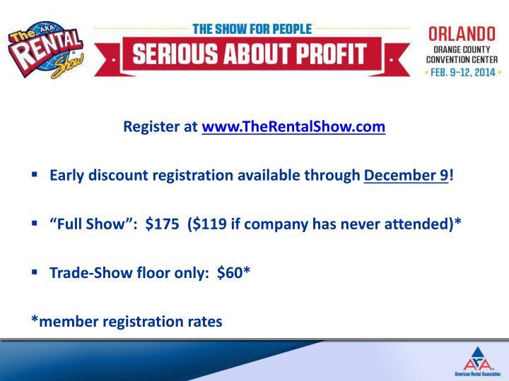 Register at